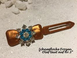 HundehaarSpange Schneeflocken Frozen Olaf taut auf Nr 3
