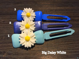 "Hundehaarspange  Blume "" Big Daisy White  Nr. 2 """