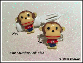 "HundeHaarSpange  Affe "" Monkey Red / Blue """
