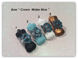 "HundeHaarSpange mit MetallApplikation  "" Krone / Crown Water Blue   """