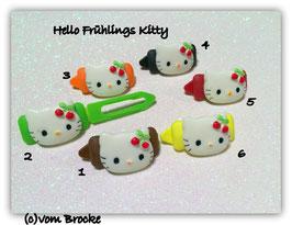 """HundeHaarSpange  Hello Kitty """" Frühlings Kitty Kirsche """""""