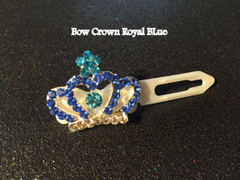 "HundeHaarSpange mit MetallApplikation  "" Crown Royal Blue  """