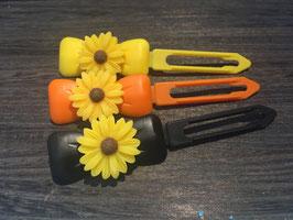 "Hundehaarspange  Blume "" Big Daisy Gelb Nr . 1  """