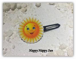 "HundehaarSpange Sonne   ""Happy Happy Sun Nr 6 """