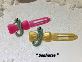 "HundehaarSpange Meer  "" Seepferdchen grün / Seehorse  """