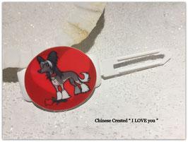"""HundeMotivHaarSpange  """" Chinese Crested 1  """""""