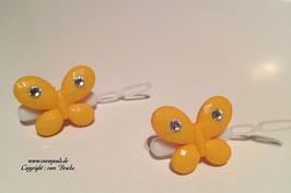 SchmetterlingWelpen HundehaarSpange  Nr. 7 gelb  mit und ohne  SWK