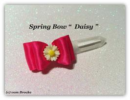 "Ausstellungs- / Stoffschleife  "" Spring Bow Pink Daisy """