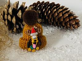 Wintermützchen mit Pluto und Mützchen mit Rhinestone mais