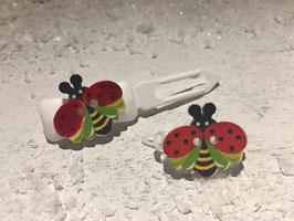 """Mini-Preis-Hundehaarspange """" DunkelRoter Schmetterling """""""