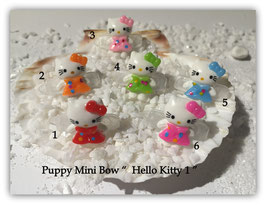"HundeHaarSpange Mini Puppy Bow   "" Hello KItty 1     """
