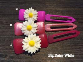 "Hundehaarspange  Blume "" Big Daisy Weiß Nr. 1 """
