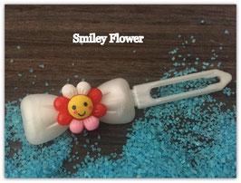 "HundehaarSpange Sonne   "" Smiley Flower Nr . 3 """