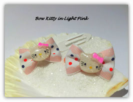 "HundeHaarSchleifen  Hello Kitty  "" Kitty in Light Pink  """