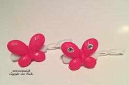 SchmetterlingWelpen HundehaarSpange  Nr. 4 pink  mit und ohne  SWK