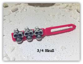 HundeHaarSpange  Limted Edition !!!! Skulls (3 )  3/4 Skull erdbeere