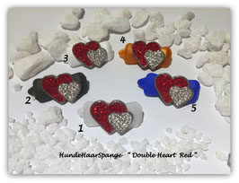 "HundeHaarSpangen "" Valentine´s Day Heart Red Crystal """