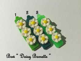HundeHaarSpange Blume 3 Grüntöne  Nr. 17 French Daisy(3) Barrette