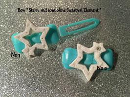 """HundehaarSpange """" Christmas Star White Glitter  Nr . 2"""