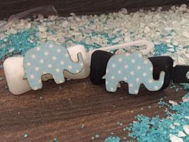 """Mini-Preis-Hundehaarspange """" Blauer Elefant """""""