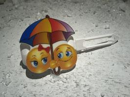 "SonderEmotion / Smiley HundeHaarSpange  "" I´m singing in the rain  """