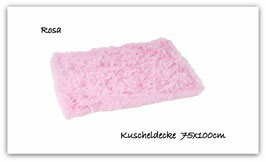 "Kuscheldecke "" super  flauschig "" rosa """