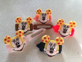 """HundeHaarSpange  """" Mickey  Mousi  Yellow """""""