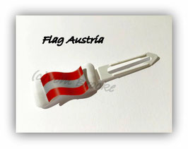 "HundeHaarSpange  "" MotivSpange  Österreich Flagge 1 """