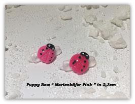 "HundeHaarSpange Mini Puppy Bow   "" Marienkäfer Pink     """