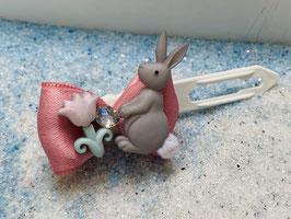 Osterhasen Schleife mit Blume und SWK  Nr 2