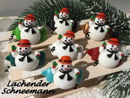 """HundehaarSpange  """"   Smiley Snowman  / Lachender Schneemann  """""""