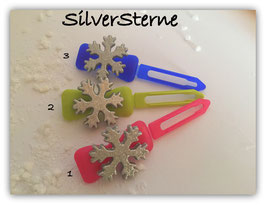 "HundeHaarSpange "" Silver Snowflake """