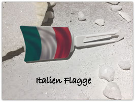 """ Italienische Flagge ""  HundeHaarMotivspange"