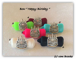 "HundeHaarSpange  Happy Birthday "" Metall Torte """