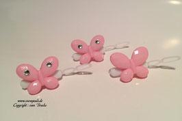 SchmetterlingWelpen HundehaarSpange  Nr. 2 rosa mit und ohne SWK