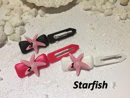 """HundehaarSpange Meer  """" Seestern  rosa / Starfish  """""""