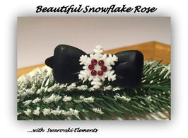 "Snowflake "" Black Glamour ""  Pink   "" mit Swarovski Elemente"