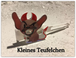 """Motiv HundeHaarSpange """" Kleines Teufelchen mit SWK """""""