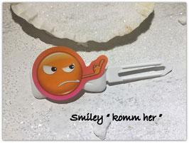 "Emotion / Smiley HundeHaarSpange  "" Komm her  """