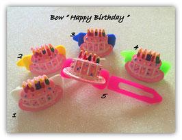 "HundeHaarSpangen "" Happy Birthday Torte  rosa """
