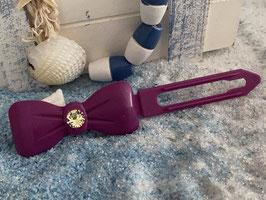 "Kunststoff HundehaarSpange/ SWK  "" Glamour American Butterfly  Dog Bow Nr 5 Magenta """