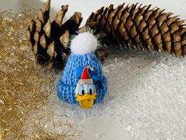 Wintermützchen mit Donald und Mützchen mit Rhinestone Hellblau