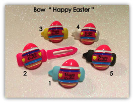 """Ostern  HundeHaarSpange  """" Ei Happy Easter pink """""""