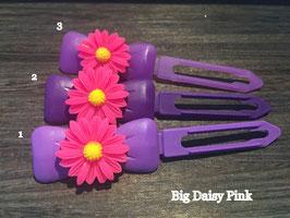 "Hundehaarspange  Blume "" Big Daisy Pink Nr.3 """