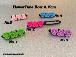 """HundeHaarSpange Orchideen-Rose Nr. 6  """" 3er Rose-Time SW """""""