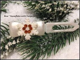 """Snowflake """" White Glamour """" Mandarine """" mit Swarovski Elemente"""