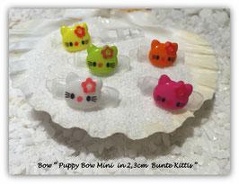 "HundeHaarSpange Mini Puppy Bow   "" Hello KItty 2     """