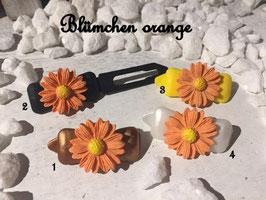"""HundehaarSpangen """" Blumen Blümchen groß Orange Nr 5"""""""