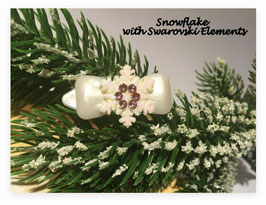 """Snowflake """" White Glamour """"  Flieder    """" mit Swarovski Elemente"""