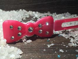 "Kunststoff HundehaarSpange/ SWK  "" Glamour American Butterfly Dog Bows Erdbeere  """